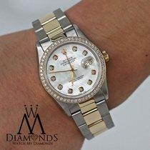 Rolex 16233 Datejust Two Tone 36mm Diamond Bezel & Mother...
