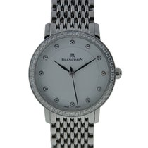 Blancpain Ultraplate Slim Ladies Stainless Steel White Diamond...