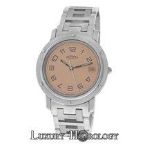 Hermès Authentic Men's Mid-Size Clipper CL6.710 Steel 36MM