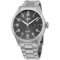 Oris Grey Dial Stainless Steel Men's Watch 75276984063mb