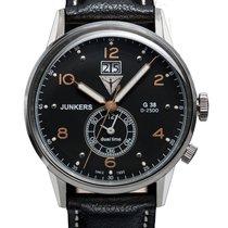 Junkers 6940-5 G38 Dual-Time Herrenuhr silber, schwarz 10 ATM...
