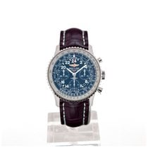 Breitling Navitimer Cosmonaute 43 Blue Dial Red Crocodile...