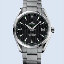 Omega Aqua Terra Stahl 150M 41,5 mm schwarz grün  -NEU-