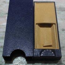 Bulgari vintage watch box leather blu rare newoldstock