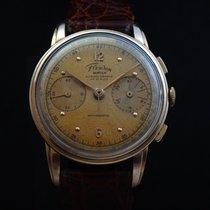 Fleuron Vintage Mechanical 18k Gold Chronograph