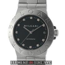 Bulgari Diagono Stainless Steel 35mm Black Diamond Dial Automatic