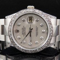 Rolex Mens Stainless Steel Rolex Datejust New Oyster 36 MM...