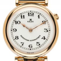 Kelek Repetition Automatique Gelbgold Automatik Armband Leder...