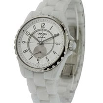 Chanel H3837 J12 Automatic 36mm in White Ceramic - on White...