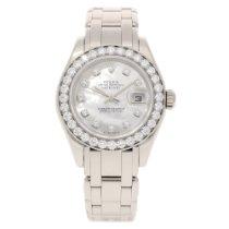Rolex Pearlmaster 80299 Ladies 18ct White Gold Watch - 2008