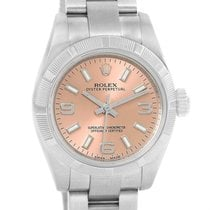 Rolex Nondate Ladies Salmon Dial Oyster Bracelet Watch 176210