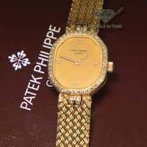 Patek Philippe 18k Yellow Gold Diamond Manual Wind Ladies...