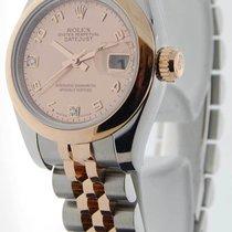 Rolex Ladies Datejust 179161 D 18k Pink Gold & Steel...