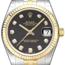勞力士 (Rolex) Datejust 31 Edelstahl Gelbgold 178273 Schwarz Dia...