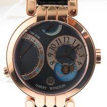 Harry Winston Premier Excenter Time Zone 18k Gold Ref 200/mmtz...