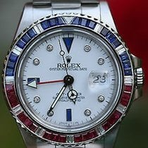 Rolex Vintage Gmt Master Steel 40mm Pepsi 16750 White Diamond...