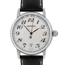 Montblanc 7042 Meisterstuck Steel on Leather Watch