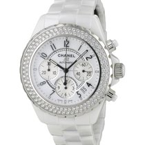 Chanel J12 Blanche Chronographe Diamants