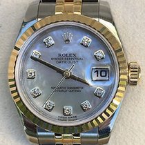 Rolex Ladies Datejust Two Tone Factory Mother Of Pearl...