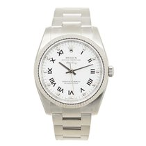 Rolex Oyster Perpetual White Gold And Steel White Automatic...