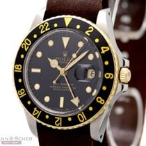 Rolex Vintage GMT Master Ref-16753 18k Yellow Gold/Stainless...