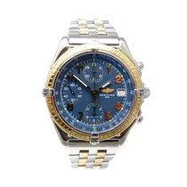 Breitling Chronomat Chronograph Gold Edelstahl Blau