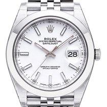 Rolex Datejust 41 Ref. 126300 Edelstahl Weiß Index Jubile-Band