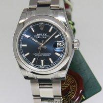 Rolex Datejust Steel Blue Dial Midsize Ladies Watch Box/Tags...