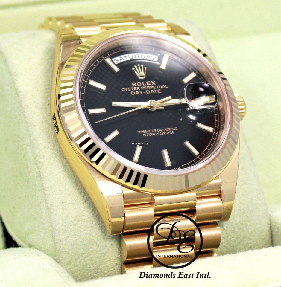 d1ab20e588c Rolex President Day-date 228238 18k Yellow Gold Black Diagonal... por R   117.959 para vender por um Trusted Seller na Chrono24