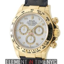 Rolex Daytona 18k Yellow Gold White Arabic Dial Y Serial Circa...
