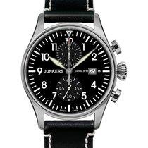 Junkers Cockpit Ju52 Quartz Watch 12 Hr Totalizer Chrono 42mm...