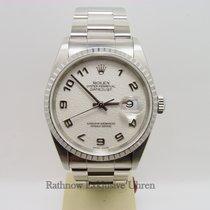 Rolex Air King Stahl/Weißgold Diamantzifferblatt
