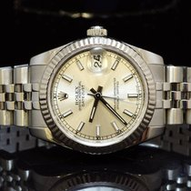Rolex 2008 31mm  Lady-Datejust, 178274, Silver baton, Box ...