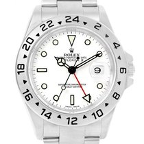 Rolex Explorer Ii White Dial Oyster Bracelet Mens Watch 16570