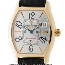 Ulysse Nardin Michelangelo Big Date 18k Rose Gold 35mm Silver...