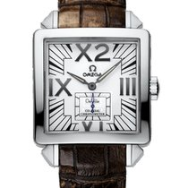 Omega De Ville X2 Small Seconds White Gold Watch