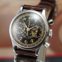 Mondia Waterproof 40's Chronograph Black Dial Breguet Rare...