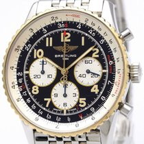 Breitling Navitimer 92 18k Gold Steel Automatic Watch D30022...