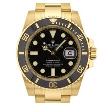 Rolex Submariner Date Yellow Gold 116618LN Black