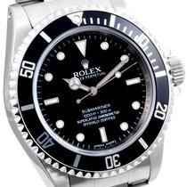 "Rolex SS 40mm No-Date Submariner ""4-Liner"" Bezel..."