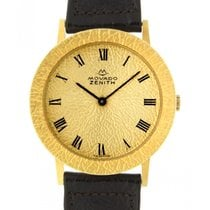 Zenith Movado Hvy71050 Yellow Gold, Leather, 36mm