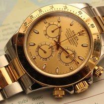 Rolex daytona steel gold slim hands box papers - acc oro
