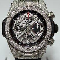 Hublot Big Bang Skelton Dial Diamond Bezel 411.NX.1170.RX
