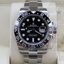 Rolex 116710LN   GMT Master II Black Index Dial