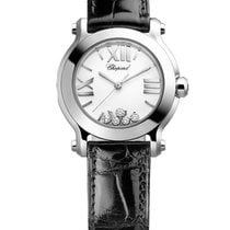 Chopard Happy Sport Mini Stainless Steel & Diamonds Ladies...