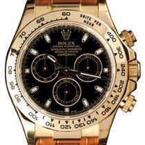 Rolex Cosmograph Daytona 116518 116518-BLKSBR Black Index 18k...