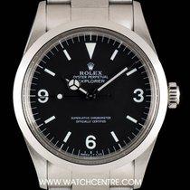 Rolex Stainless Steel Matte Black Dial Explorer Vintage 1016