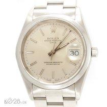 Rolex Date 15200 Steel 34 mm White Index Dial U-Series