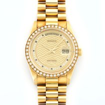 Rolex Day-Date 18K Solid Yellow Gold Automatic Diamonds