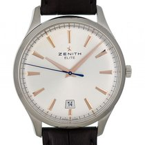 Zenith Elite Central Second Stahl Automatik 40mm